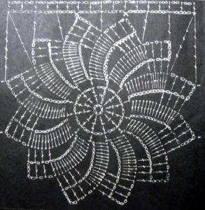 мотив-цветок крючком