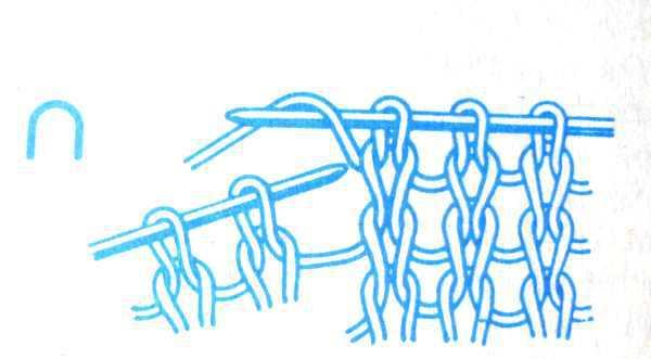как вязать накид спицами