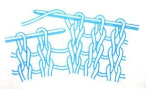 как связать обратный накид спицами