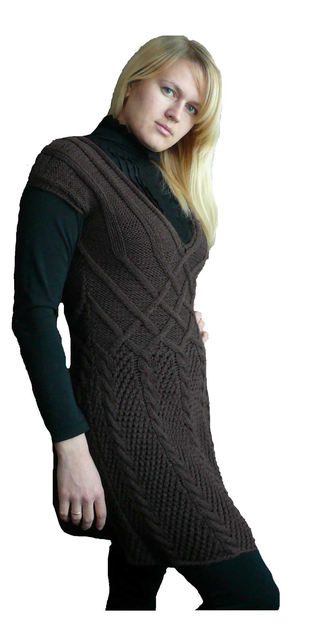 Вязание спицами платья для женщин