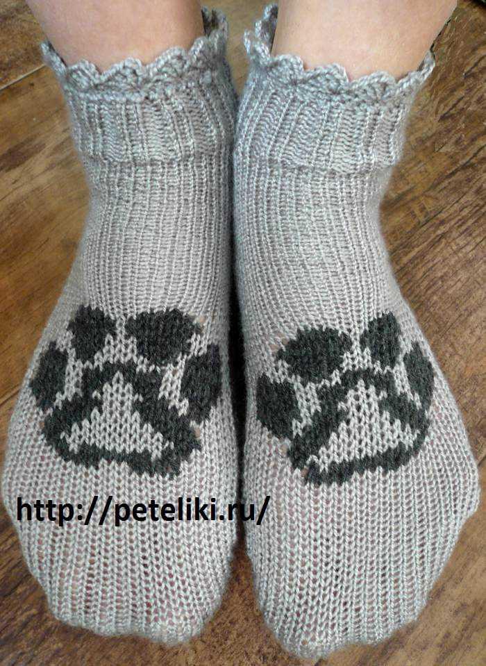 вязание на машинке носочки