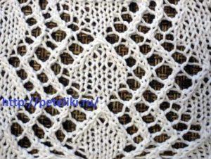 вязание спицами узоры ажурные ромбы