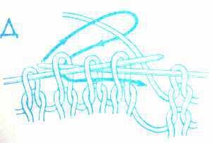 как вязать три петли вместе лицевой за задние стенки