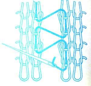 вертикальный трикотажный шов