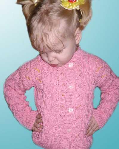 схема вязания ажурной кофточки для девочки
