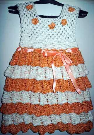 Вязание крючком, платье для девочки крючком