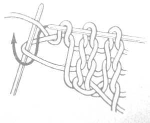 вязание спицами - вязание петли из одной две