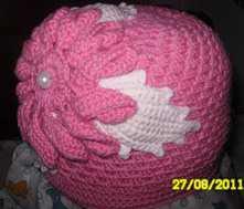 Шапка двойная крючком, шапка для девочки