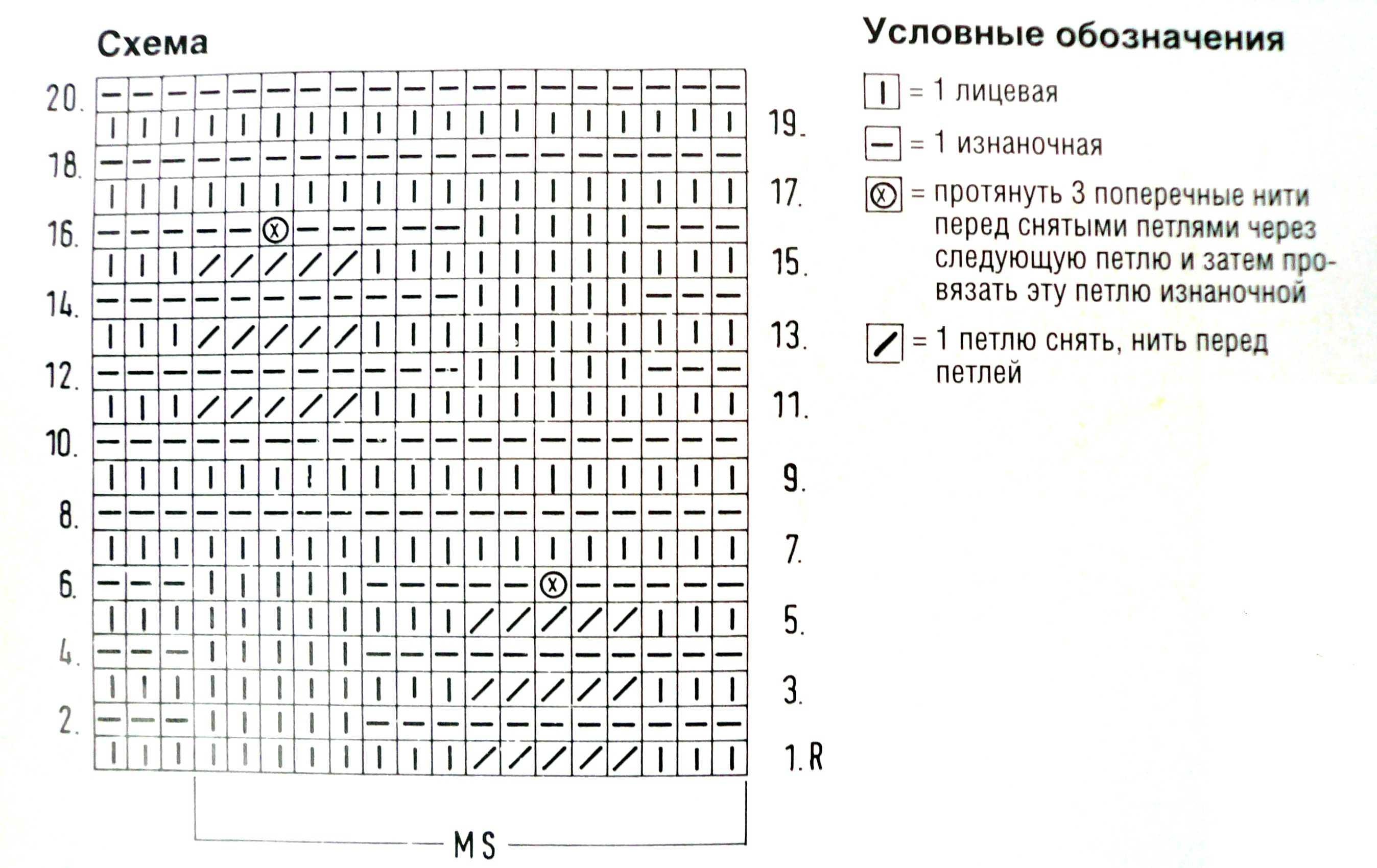 Схемы вязания летних маек