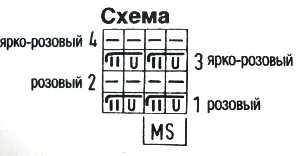 схема вязания узора из полос