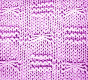 вязание спицами - узор стрекозы