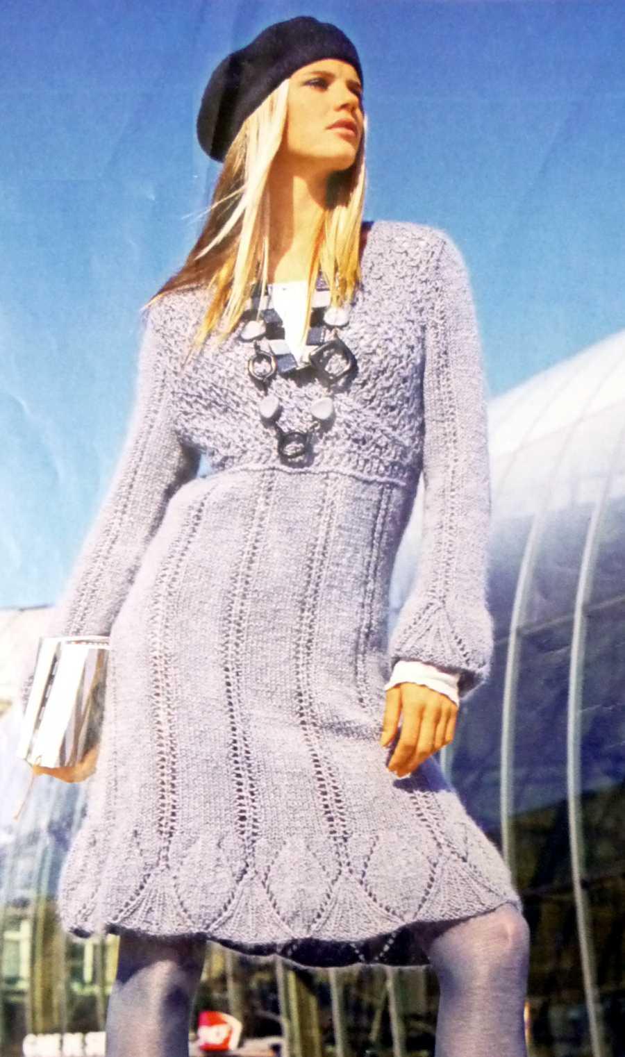 вязание спиками платье