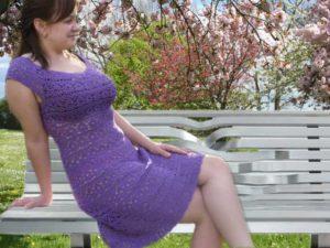 Платье с круглой кокеткой