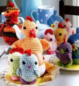 курицы амигуруми крючком - вязание крючком