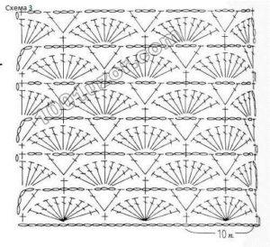 вязание крючком схема и описание для вязания жакета крючком