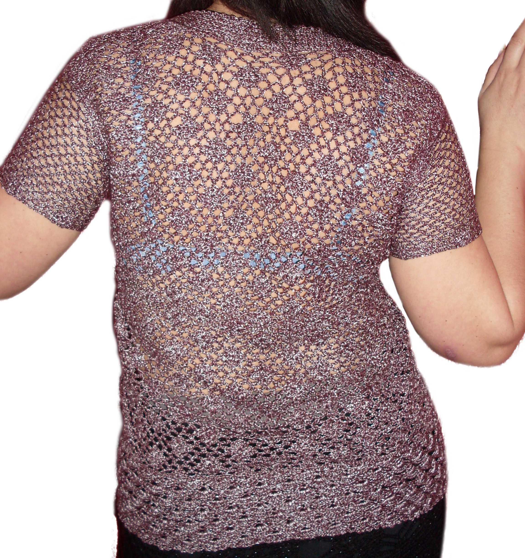 вязание крючком для женщин ажурный жакет