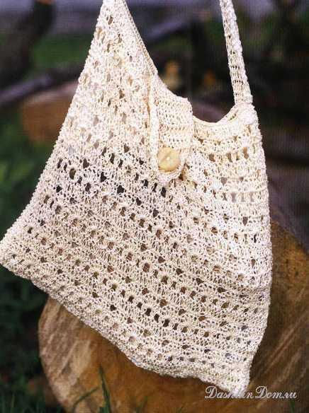 Схема вязания сумки крючком .