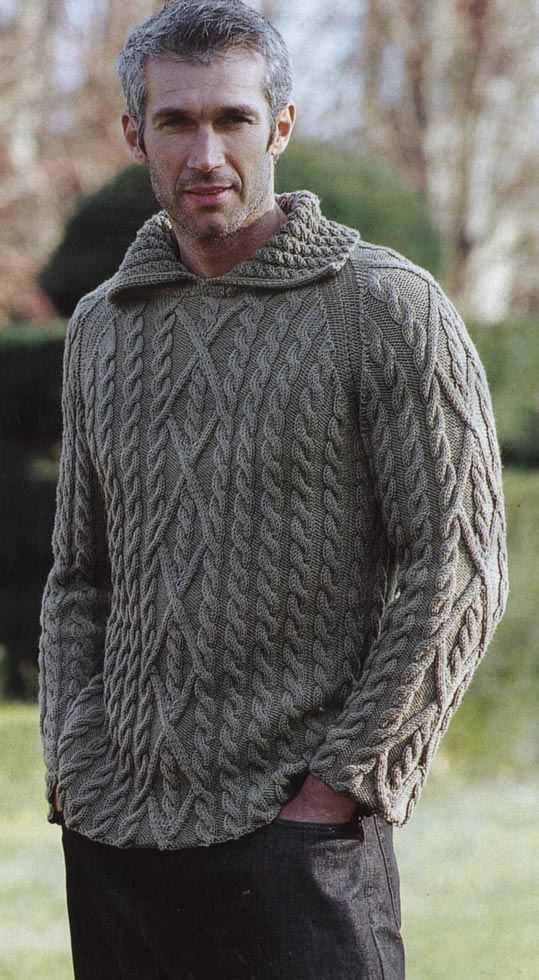 Мужской пуловер с рисунком араны