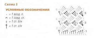 схема вязания топ на бретелях
