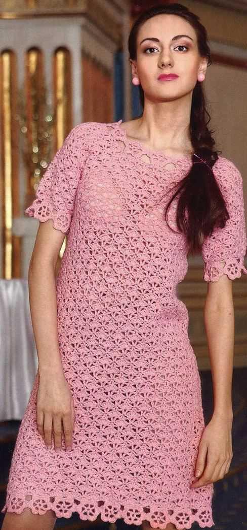 платья, туники - вязание крючком