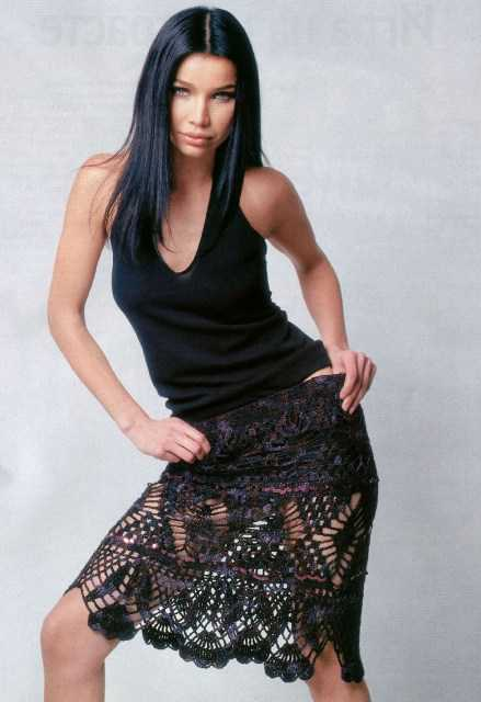 Ажурная юбка вязаная крючком