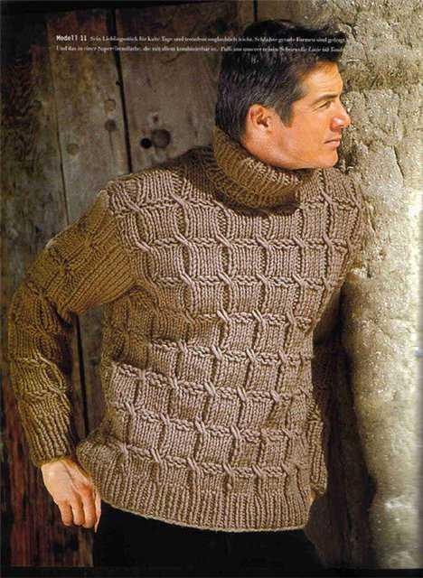 Мужской свитер вязание