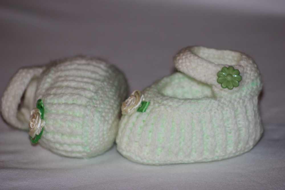 Пинетки для новорождённого спицами