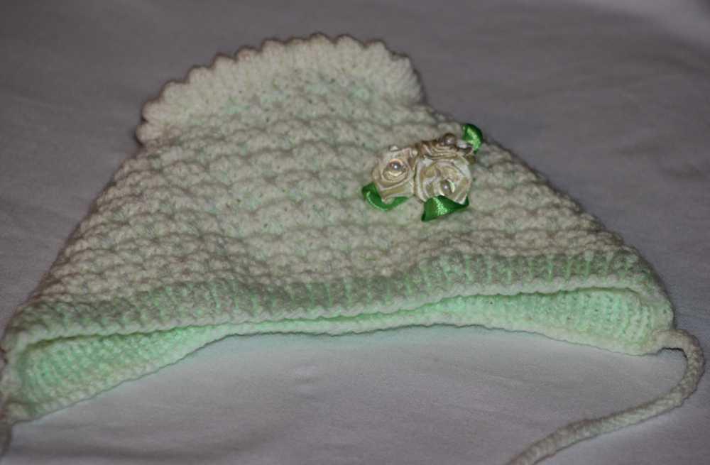 Вязание крючком для новорожденных схемы чепчик
