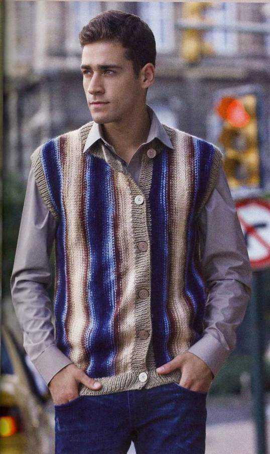 Мужской полосатый жилет