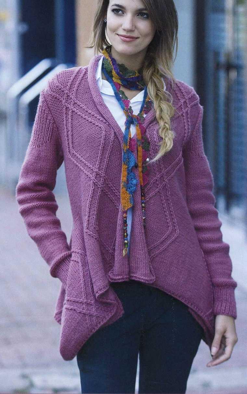 кардиган пуловер крючком