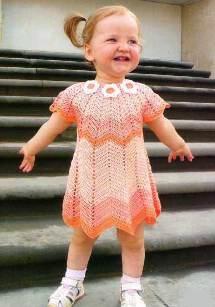 Платье для девочки с круглой кокеткой