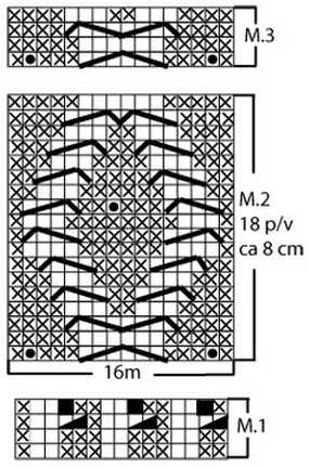 Схема вязания гетр спицами 2