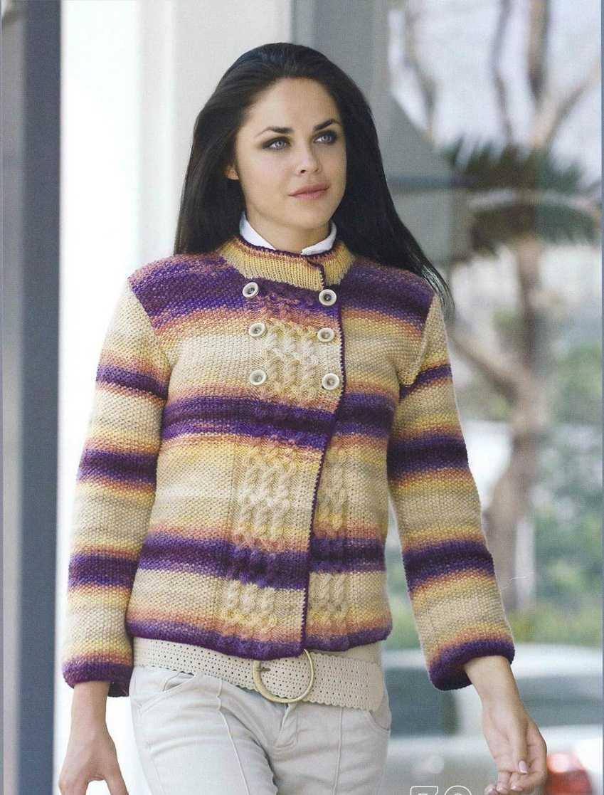 Вязание для полных. Жакет для пышных дам спицами Knitting 8