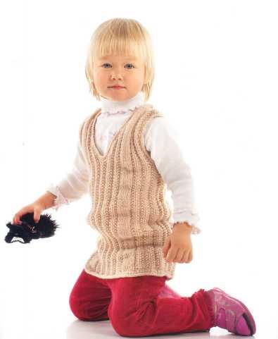 детская жилетка вязаная спицами