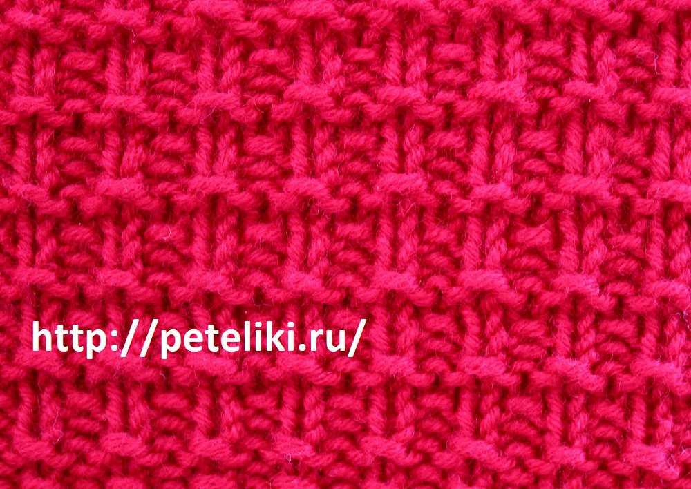 Пуловер ажурной резинкой с