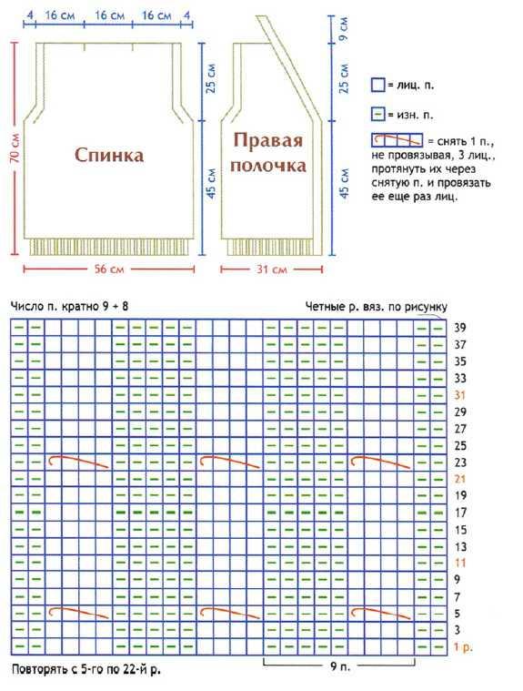 Мужской жилет вязаный спицами на пуговицах схема вязания и выкройка