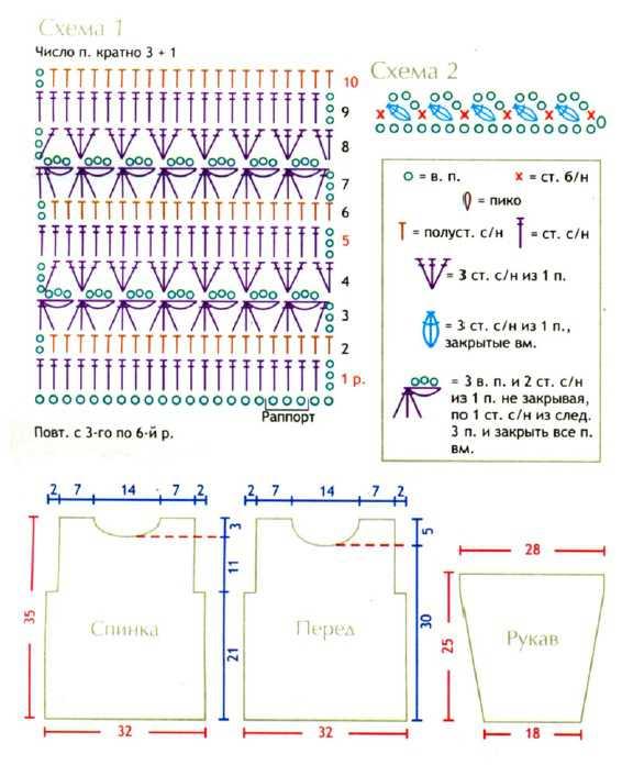 Платье для девочки вязанное крючком схема вязания и выкройка