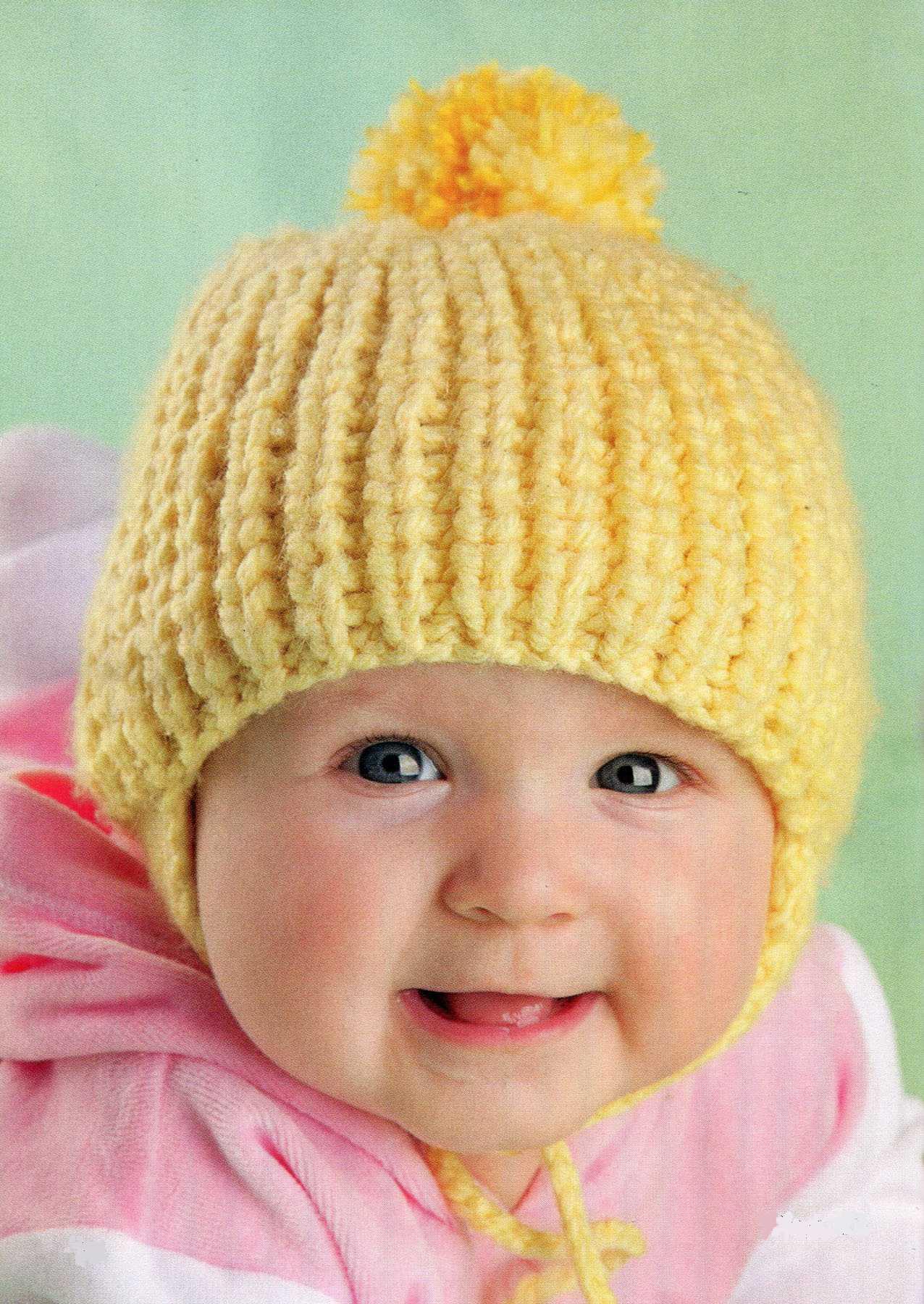 Шапочка-медвежонок...  Метки: вяжем на спицах, вязание для малышей шапочки, вязание малышам до года