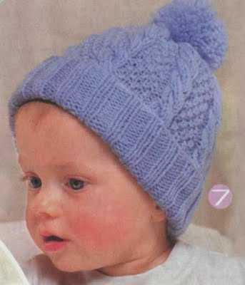 Вязаная спицами шапка для ребёнка с узором из кос петелики Я умираю?