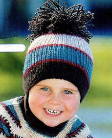 Детская шапка вязаная спицами