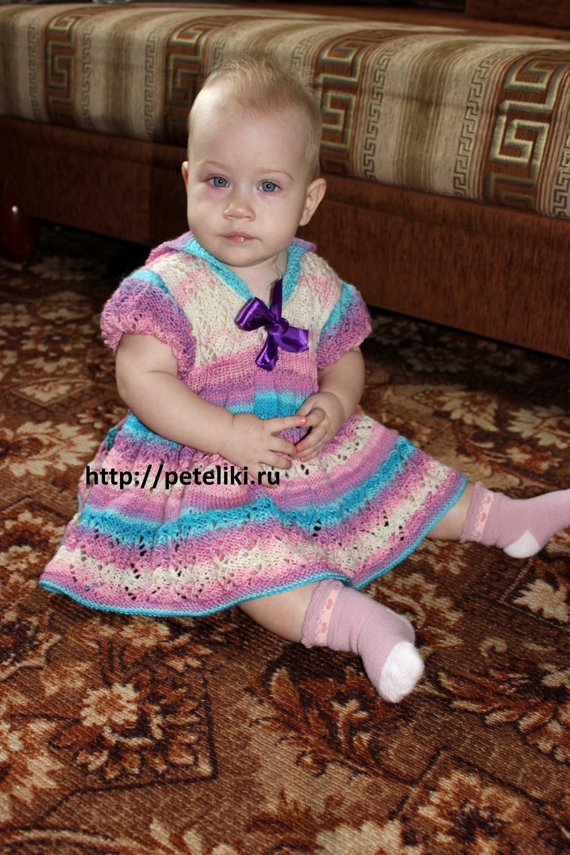 Самые красивые платья для девочек спицами связать