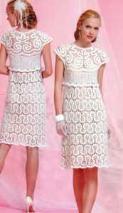 Свадебное платье связаное в стиле брюггского кружева