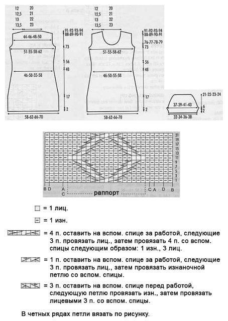 Схема вязния и выкройка