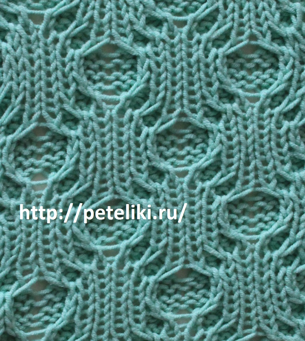 вязание спицами - узор жуки