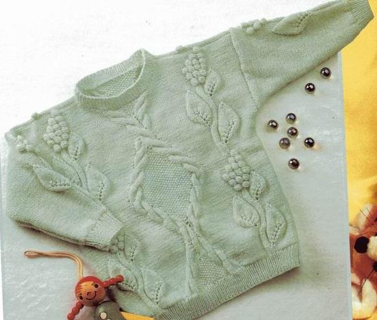 Детский пуловер вязаный спицами