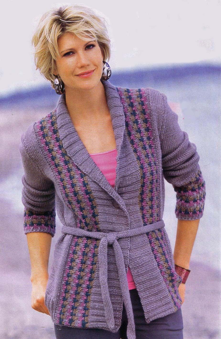 Вязаный жакет, жакет без пуговиц, вязание, вязание для женщин 11