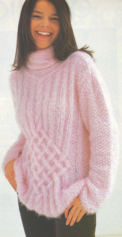 свитер с косами и ажуром схема и фото журнал ирэн