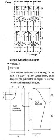 Жакет белого цвета вязаный крючком схема