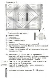 снуд-воротник вязаный спицами схема