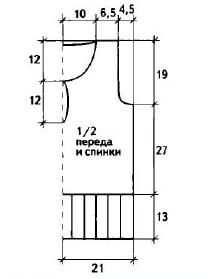 Пуловер с поясом вязаный спицами выкройка